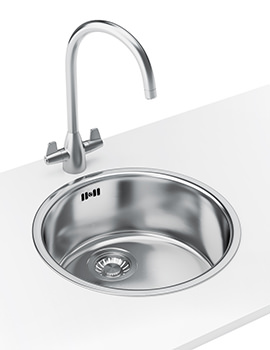 Rotondo Designer Pack RBX 610 Stainless Steel Sink And Tap