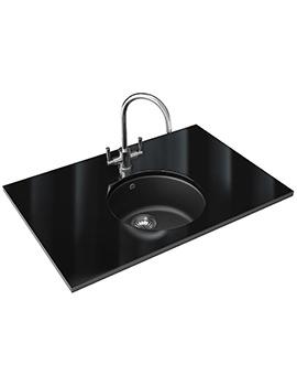 Rotondo Designer Pack RUG 110 Fragranite Graphite Sink And Tap