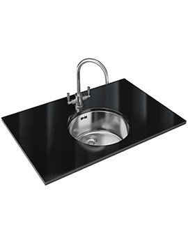 Franke Rotondo Designer Pack RUX 110 Stainless Steel Sink And Tap