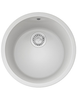 Rotondo RBG 610 Fragranite Polar White 1.0 Bowl Inset Kitchen Sink