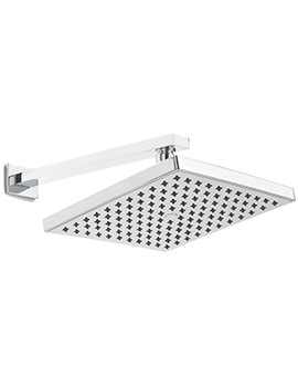 Trieste 200 x 200mm Fixed ABS Shower Head And Wall Mounted Arm