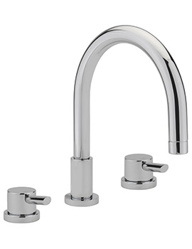 Rocco 3 Hole Deck Mounted Bath Filler Tap