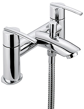 Pure Deck Mounted Bath Shower Mixer Tap With No.1 Kit