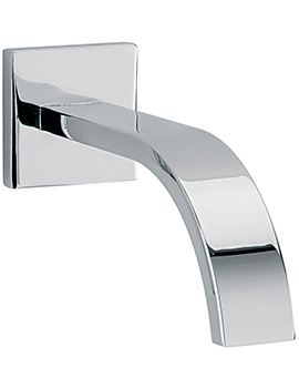 Arke 160mm Wall Mounted Spout With Square Plate