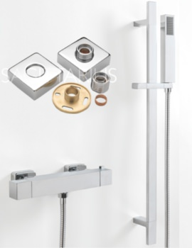 Stark Cube Exposed Easy Fit Thermostatic Valve And Slide Rail
