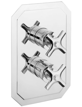 Crosswater Waldorf Crosshead Thermostatic Shower Valve With 3 Way Diverter