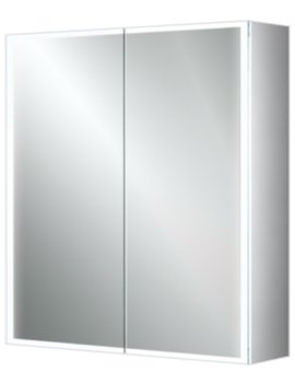 Qubic 60 Double Door LED Aluminium Cabinet 600 x 700mm
