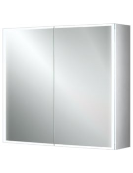 Qubic 80 Double Door LED Aluminium Cabinet 800 x 700mm
