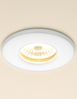 Infuse Warm White Fire Rated LED Showerlight - White