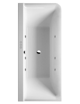 P3 Comforts 1800x800mm Corner Left Bath With Panel - Jet System