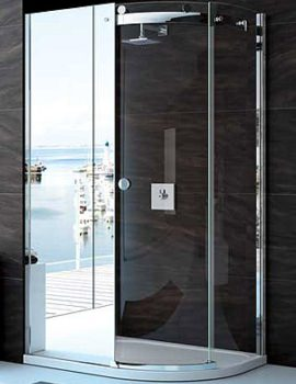 Merlyn 10 Series 1200 x 800mm Mirror 1 Door Offset Quadrant Enclosure