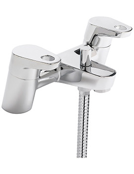Vento Deck Mounted Bath Shower Mixer Tap And Kit