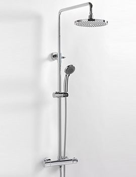 Aurora Exposed Thermostatic Shower Valve With Rigid Riser Kit