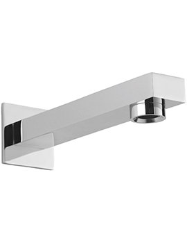 Evolution 180mm Wall Mounted Spout With Square Plate