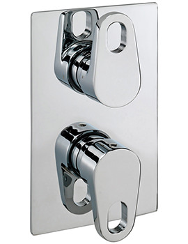 Vento Concealed Thermostatic Shower Valve With 2 Way Diverter