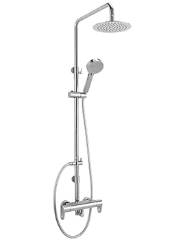 Vento Exposed Thermostatic Shower Valve With Rigid Riser Kit