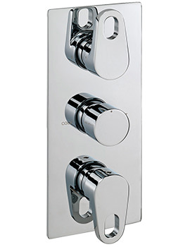 Vento Concealed Thermostatic Shower Valve With 3 Way Diverter