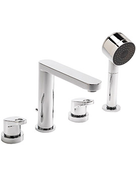 Vento 4 Hole Deck Mounted Bath Shower Mixer Tap