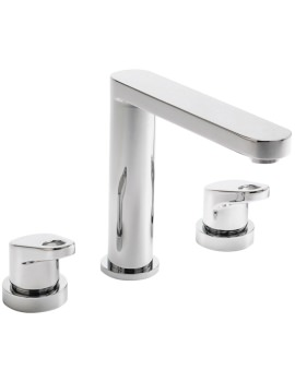 Vento 3 Hole Deck Mounted Bath Filler Tap