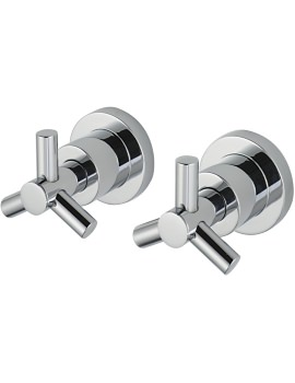 Zone Pair Of 0.5 Inch Wall Mounted Side Valves
