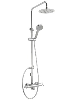 Zone Exposed Thermostatic Shower Valve With Rigid Riser Kit