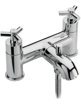 Zone Deck Mounted Bath Shower Mixer Tap And No.1 Kit