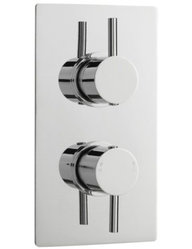 Pioneer Round Thermostatic Twin Concealed ABS Shower Valve