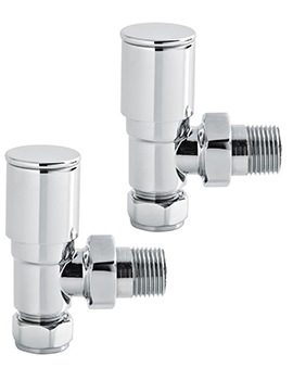 Lauren Modern Pair Of Angled Radiator Valves