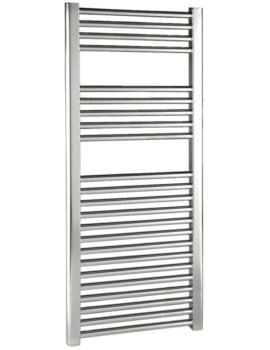 500 x 1100mm Chrome Straight Heated Towel Rail