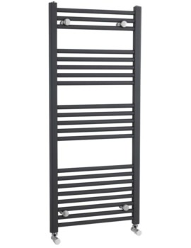 500 x 1150mm Anthracite Straight Heated Towel Rail