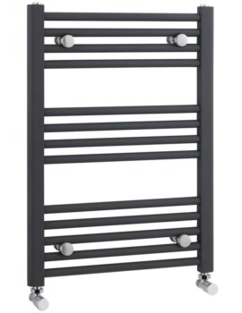 500 x 700mm Anthracite Straight Heated Towel Rail