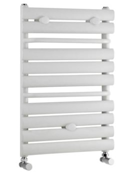 445 x 650mm White Straight Heated Towel Rail