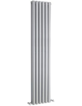 Ricochet Double Panel 354 x 1800mm Silver Vertical Designer Radiator