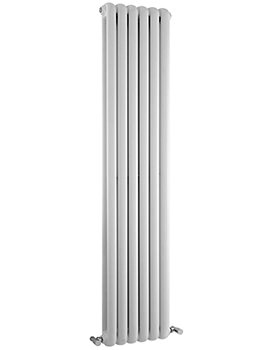 Salvia Double Panel 383 x 1800mm White Vertical Designer Radiator