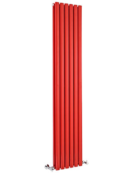 Ricochet Double Panel 354 x 1800mm Red Vertical Designer Radiator