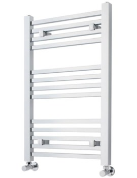 500 x 800mm Chrome Square Heated Towel Rail
