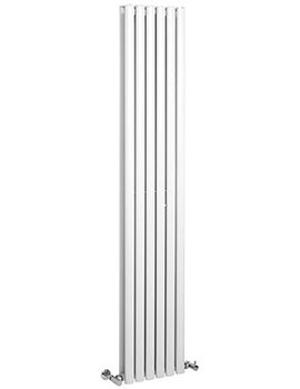 Retro 326 354 x 1800mm Vertical Designer Radiator High Gloss White