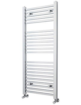 500 x 1200mm Chrome Square Heated Towel Rail