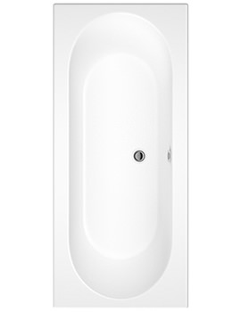 Otley 5mm Double-Ended Bath With Eternalite Finish 1800 x 800mm