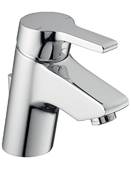 Active Blue Basin Mixer Tap With Pop-Up-Waste