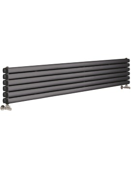 Ricochet Double Panel 1800 x 354mm Anthracite Horizontal Radiator