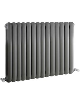 Salvia Double Panel 863 x 635mm Anthracite Horizontal Radiator