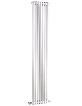 Regency Double Column 335 x 1800mm White Vertical Designer Radiator