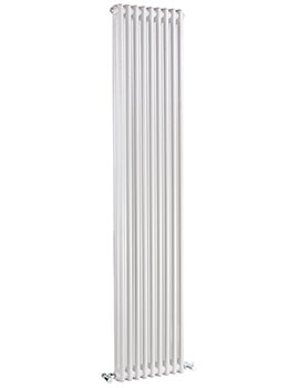 Regent Double Column 425 x 1800mm Vertical Designer Radiator White