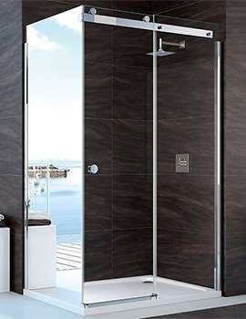 10 Series 1700mm Clear Glass Sliding Shower Door