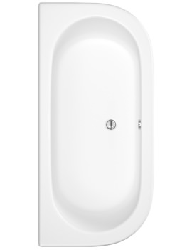 Shingle 1700 x 800mm Double Ended Back To Wall Bath With Panel