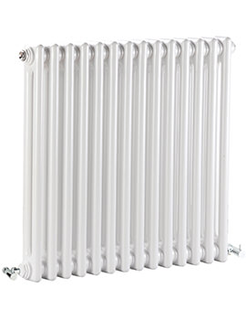 Regency Double Column 650 x 600mm White Horizontal Designer Radiator