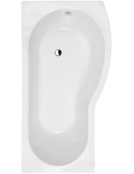 Curved B-Shaped 1700 x 900mm Right Hand Acrylic Shower Bath