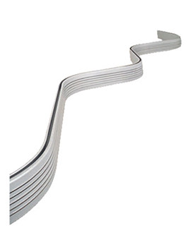 Bendy Shower Curtain Rail 2500mm White
