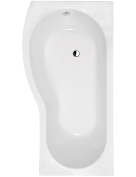 Curved B-Shaped 1700 x 900mm Left Hand Acrylic Shower Bath